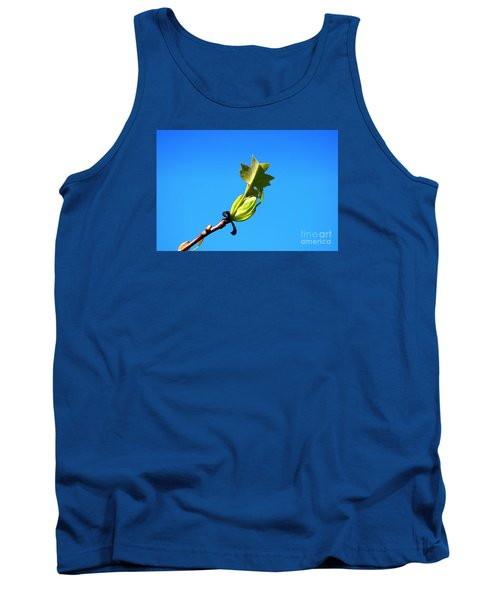 Tank Top featuring the photograph Norway Maple Leaf 20120402_171a by Tina Hopkins