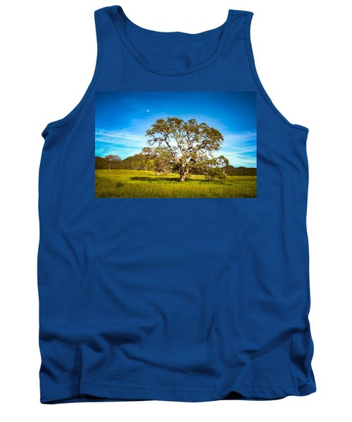 Oak Tree Green Meadow Moon Rising Tank Top