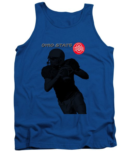 Tank Top featuring the digital art Ohio State Football by David Dehner