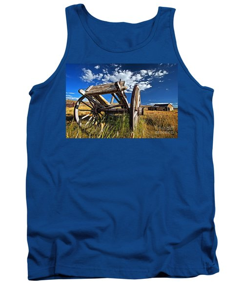 Old Abandoned Wagon, Bodie Ghost Town, California Tank Top