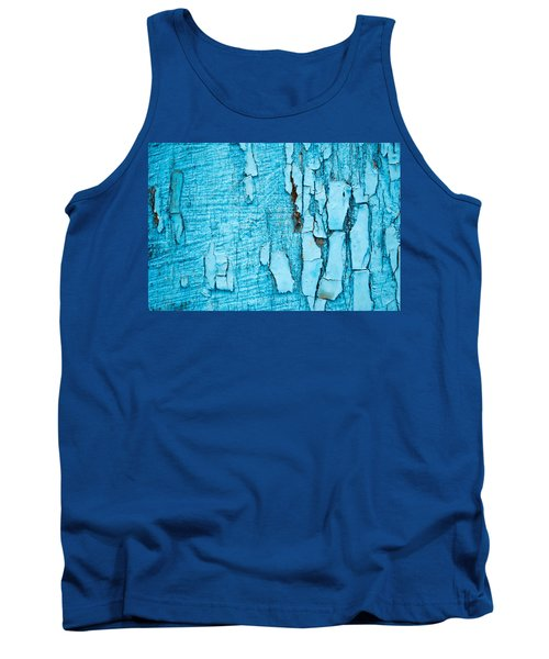 Tank Top featuring the photograph Old Blue Wood by John Williams