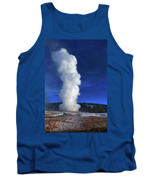 Old Faithful In Winter Tank Top by C Sitton