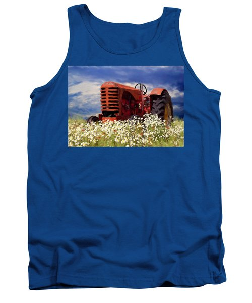 Old Red Tractor Tank Top