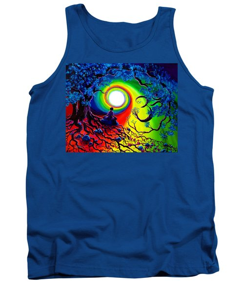 Om Tree Of Life Meditation Tank Top by Laura Iverson