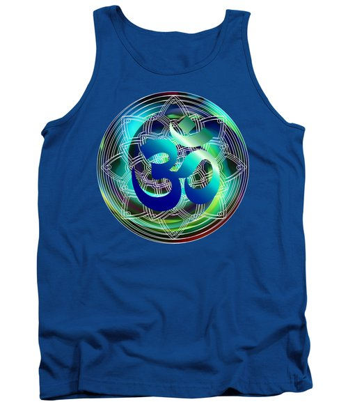 Tank Top featuring the digital art Om Vibration Ocean by Robert G Kernodle