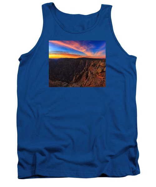 On The Edge Tank Top by Rick Furmanek