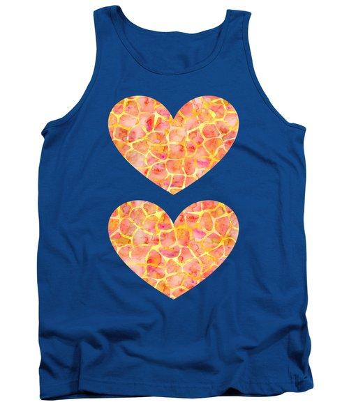 Orange Giraffe Print Tank Top