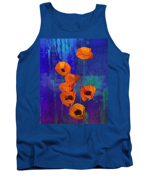 Orange Poppies Tank Top by I'ina Van Lawick