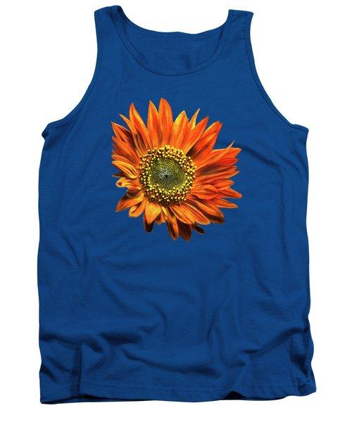 Orange Sunflower Tank Top by Christina Rollo