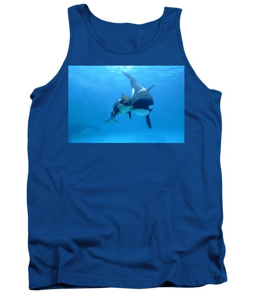 Orca Orcinus Orca Mother And Newborn Tank Top