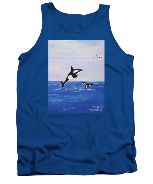 Orcas In The Morning Tank Top
