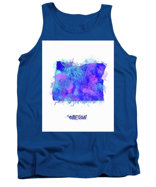 Oregon Map Watercolor 2 Tank Top