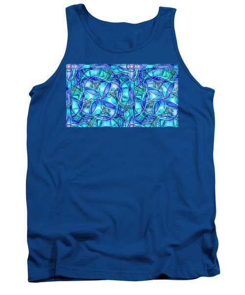 Tank Top featuring the digital art Organic In Square by Ron Bissett