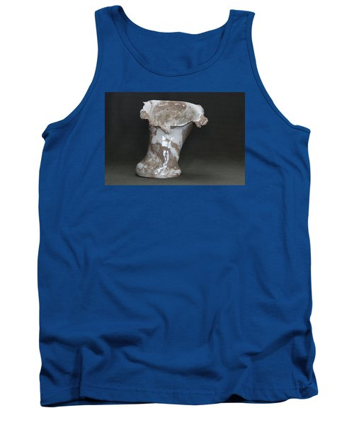 Organic Marbled Clay Ceramic Vase Tank Top by Suzanne Gaff