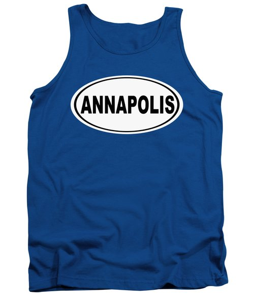 Oval Annapolis Maryland Home Pride Tank Top