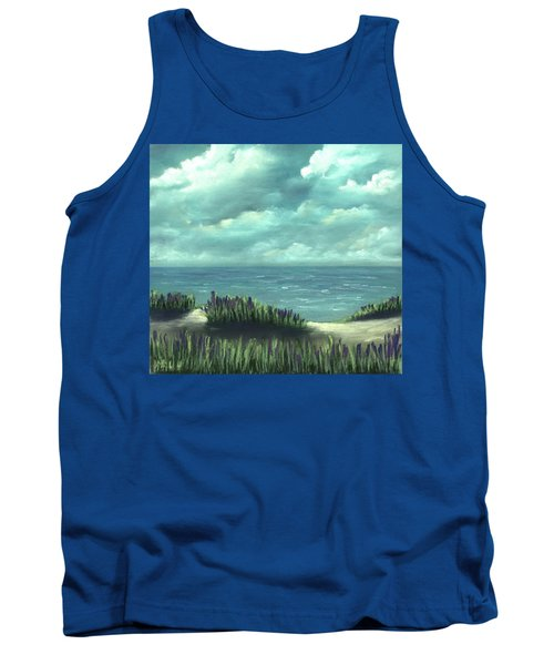 Tank Top featuring the painting Overcast by Anastasiya Malakhova
