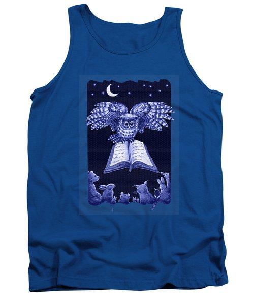 Owl And Friends Indigo Blue Tank Top