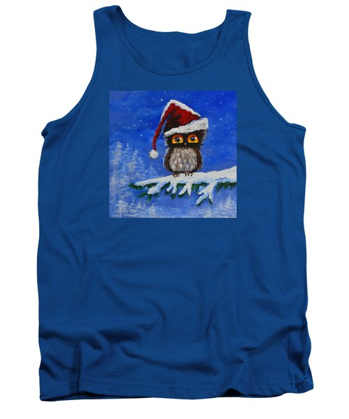 Owl Be Home For Christmas Tank Top