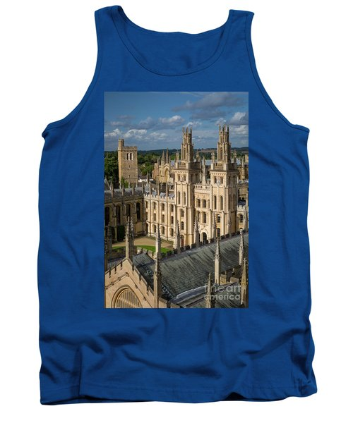 Tank Top featuring the photograph Oxford Spires by Brian Jannsen