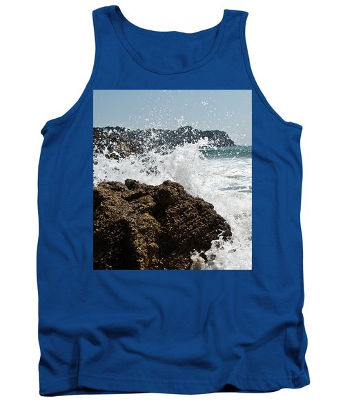 Tank Top featuring the photograph Pacific Splash by Yurix Sardinelly