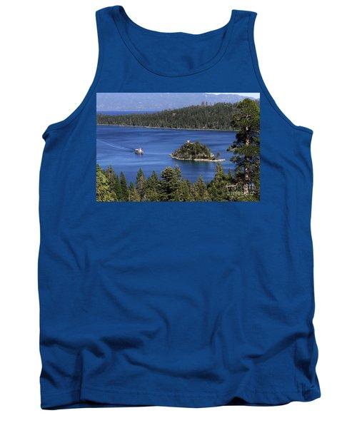 Paddle Boat Emerald Bay Lake Tahoe California Tank Top