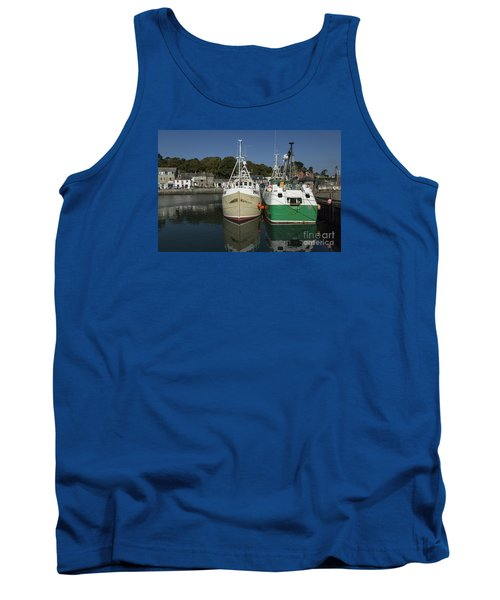 Padstow Fishing Boats Tank Top by Brian Roscorla
