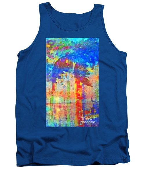 Palm Party Tank Top by Holly Martinson