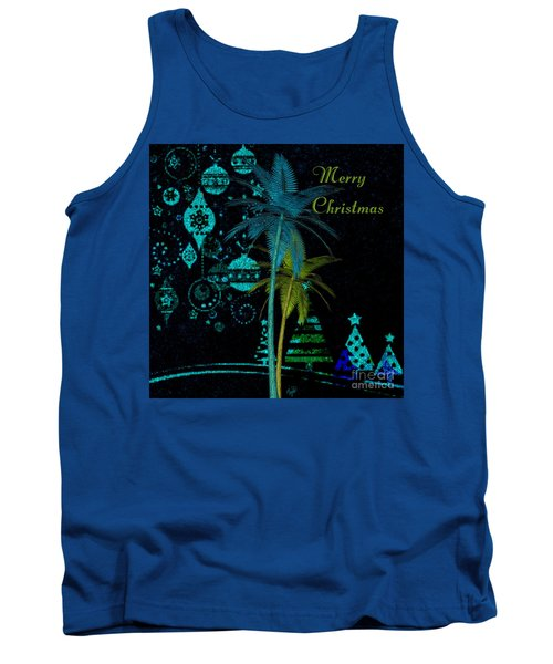 Palm Trees Merry Christmas Tank Top