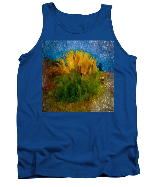 Pampas Grass Tank Top by Iowan Stone-Flowers