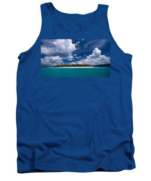 Paradise Is Sandy Cay Tank Top by Adam Romanowicz
