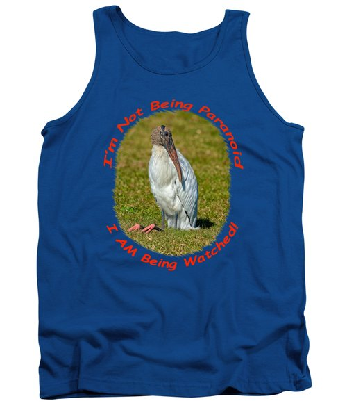 Paranoid Woodstork Tank Top by John M Bailey