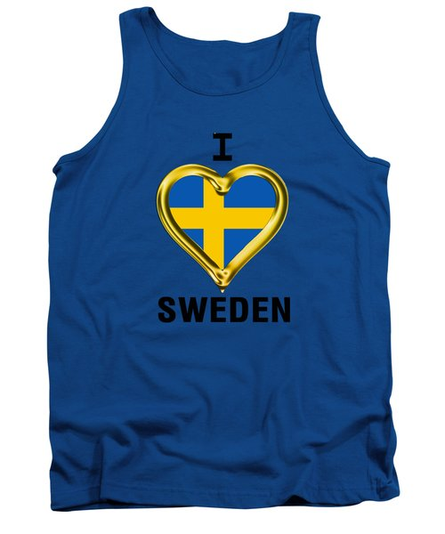 Parchment Background I Heart Sweden Tank Top