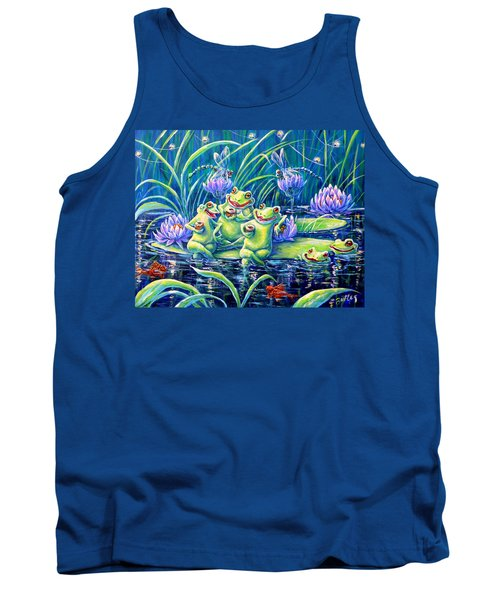 Party At The Pad Tank Top by Gail Butler