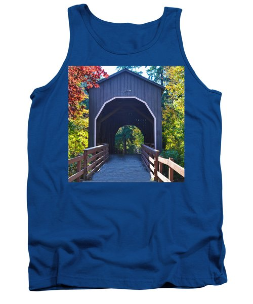 Pass Creek Covered Bridge Tank Top by Ansel Price