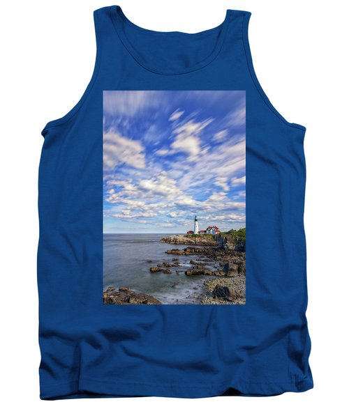 Passing Clouds At Portland Head Light Tank Top
