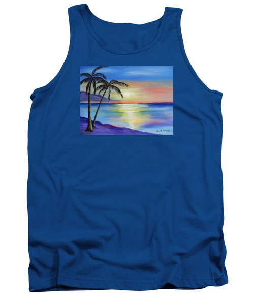 Peaceful Sunset Tank Top by Luis F Rodriguez