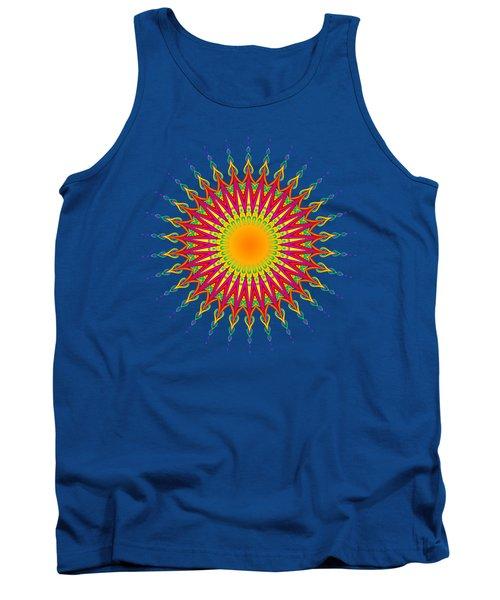 Peacock Sun Mandala Fractal Tank Top