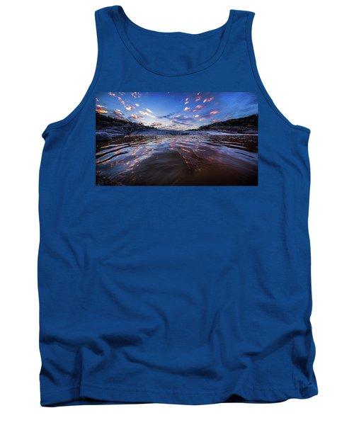 Peddernales Falls Sunset #1 Tank Top by Micah Goff
