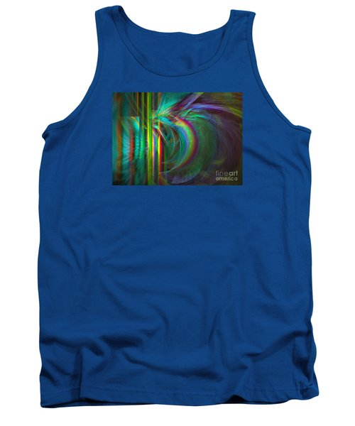 Tank Top featuring the digital art Penetrated By Life - Abstract Art by Sipo Liimatainen