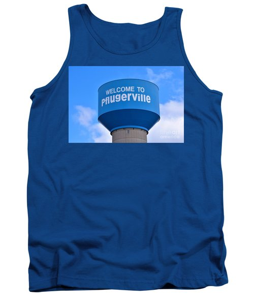 Pflugerville Texas - Water Tower Tank Top by Ray Shrewsberry