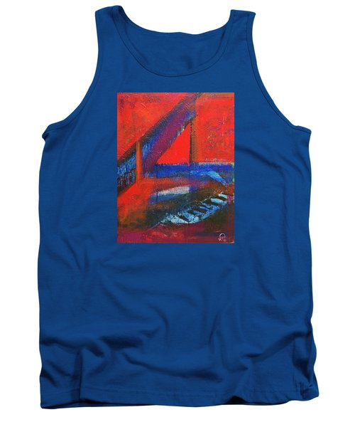 Piano In The Red Room Tank Top by Walter Fahmy