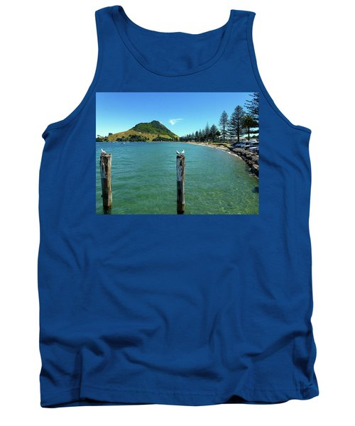 Pilot Bay Beach 1 - Mt Maunganui Tauranga New Zealand Tank Top by Selena Boron