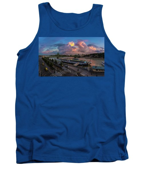 Pink Clouds Above The Danube, Budapest Tank Top