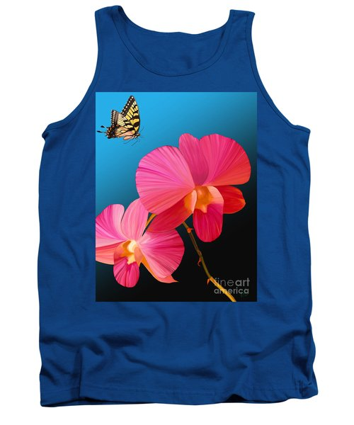 Pink Lux Butterfly Tank Top by Rand Herron