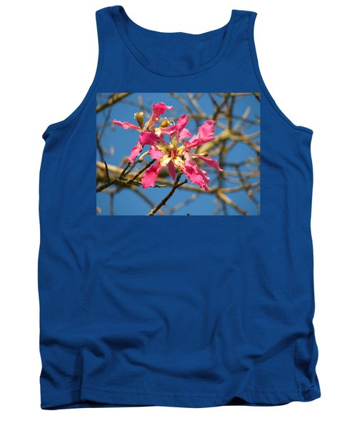 Pink Orchid Tree Tank Top