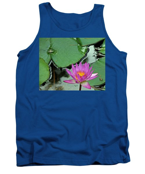 Tank Top featuring the photograph Pink Water Lily by Judy Vincent