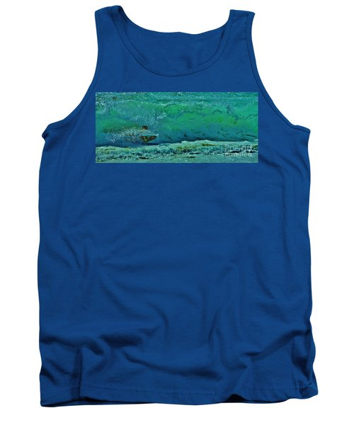 Playing In The Shore Break Tank Top by Craig Wood