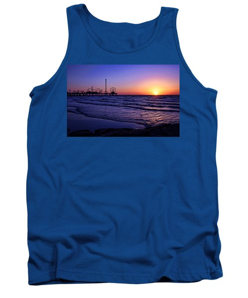 Pleasure Pier Sunrise Tank Top by Judy Vincent