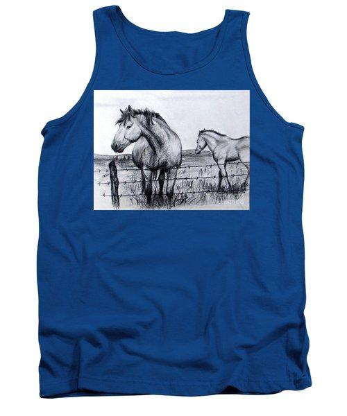 Ponder Texas Horses Tank Top