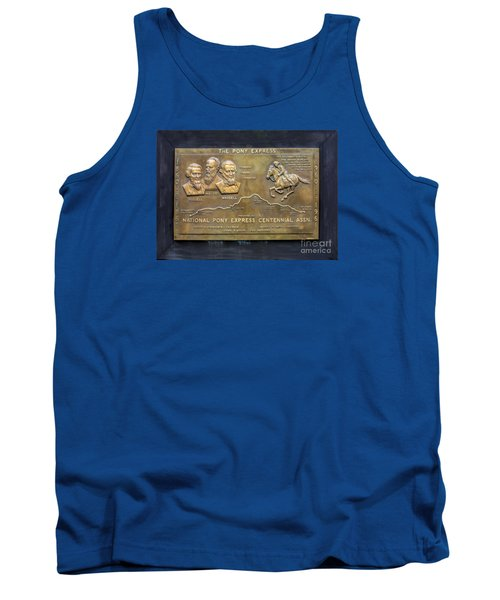 Pony Express Brass Plaque Tank Top by Linda Phelps